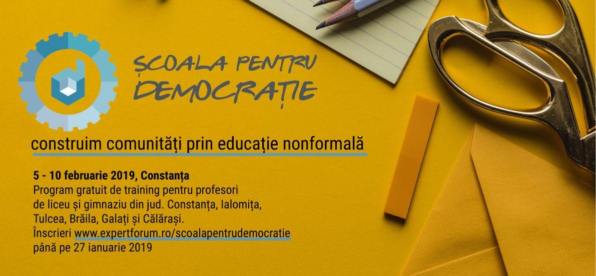 Școala pentru Democrație, ediția 2019
