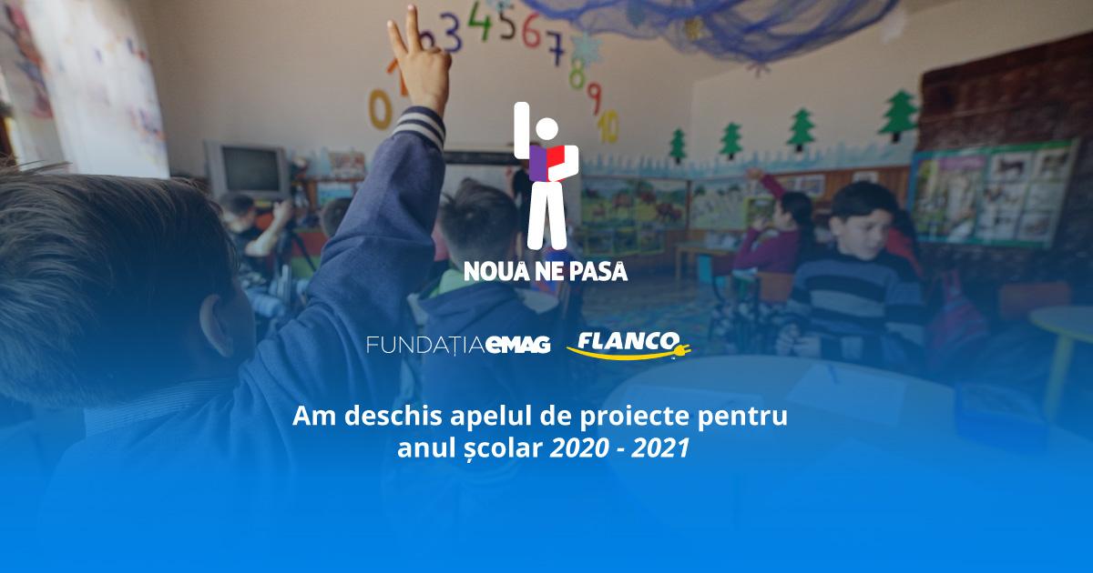 """""""Nouă ne pasă"""" deschide perioada de aplicații pentru anul școlar 2020-2021"""